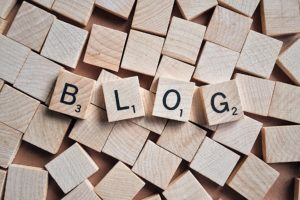 Blog word out of wooden blocks