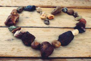 rocks shaped as a heart